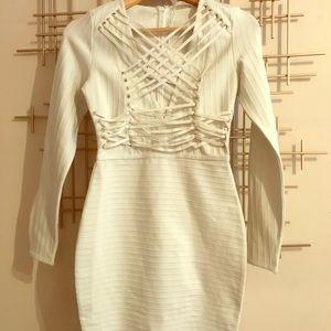 White bandage dress!